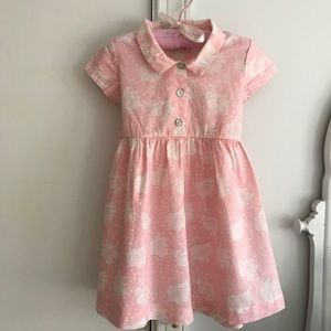 Lucy Skyes Baby New York pink cotton dress, sz 2T